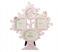 Lillian Rose Pink Owl Baby's First Year Picture Frame